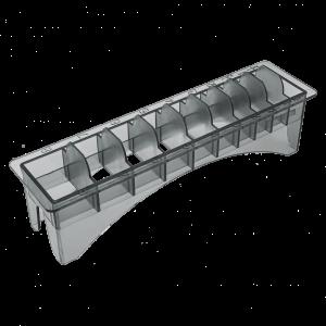 Пластиковая подставка под насадки для машинок GB 10 секций